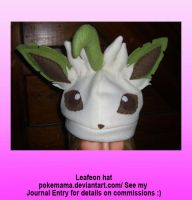 Leafeon hat by PokeMama