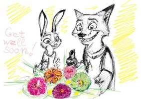 Get well soon from Judy and Nick by MurLik