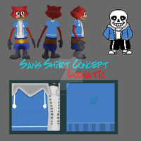 Sans Shirt Concept by toontownloony