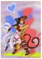Ahri and Wukong Reunited by AnimatorWil