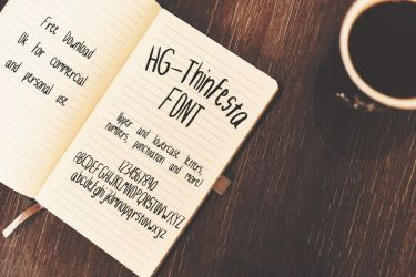 HG-Thinfesta FONT by HGGraphicDesigns