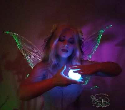 Green Fairy Light Up Wings 2 by FaeryAzarelle