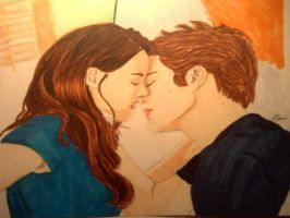 Edward and Bella Kiss Scene by Lisa99