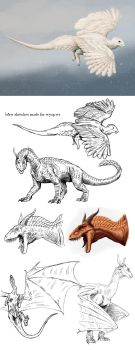 dragons - sketches by Apsaravis