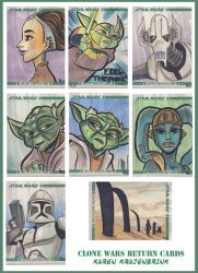 Clone Wars Return Cards by kayjkay