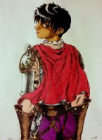 Casca (Berserk Panel Redrawn and Colored) by LordGuyis