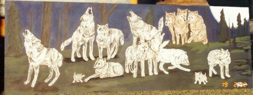 5 Ft Painting wolf pack by rCreativeDigits