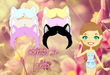 Pack Gorritos de Gatitos para Dolls png by mycreative20