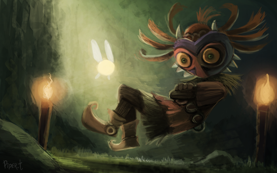 DAY 204. Skull Kid (WIP PART 1) (50 Minutes) by Cryptid-Creations