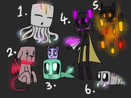 Minecraft creature adoptables (CLOSED) by Gameaddict1234