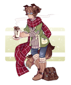 Advent Day 6 ~ Cocoa + Scarves by LunarAdopts