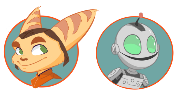 Ratchet and Clank / Pin Designs by x-kaitlin-x