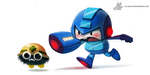 Daily Painting 872. MegaMan by Cryptid-Creations