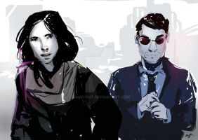 Jessica Jones and Matt Murdock by AM-Nyeht