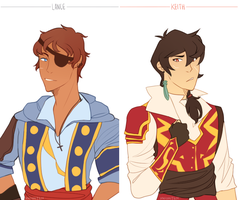 Keith And Lance Pirate Au by xNighten