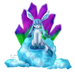 EEVEELUTION PRINTS: Glaceon by PridePenguins