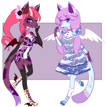 Devil and Angel Adoptable Auction OPEN! by Momoeko