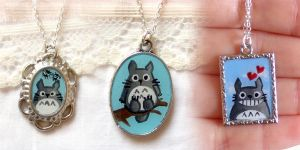 New totoro necklaces by yael360