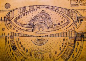 masterplan for the cosmic  santocity  side n front by santosam81