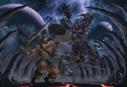 He-Man vs. Spikor - Color by Axel-Gimenez