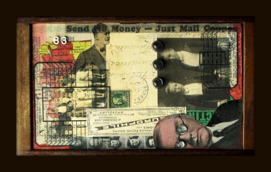 Mixed Media Collage 195 A80 by GregPDX