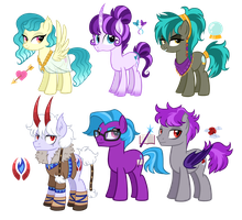 OC Ponies 5 by TheCheeseburger