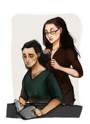 Tasertricks! (Darcy x Loki) by ACArizabal