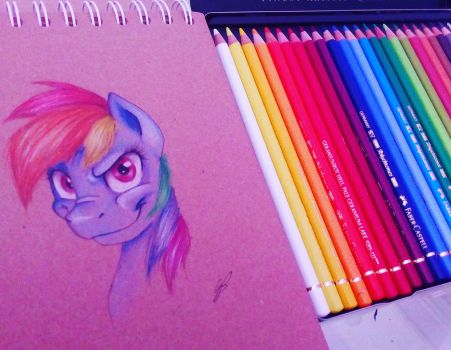 Rainbow Dash by GirlScoutDragon