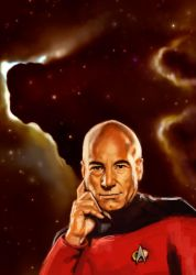 Captain Picard Sketch by rflaum