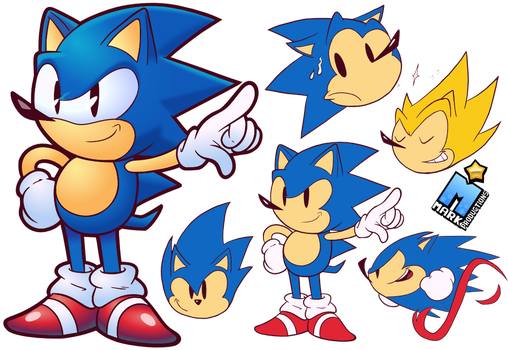 Simple Sonic Doodles - [+SONIC R VID!] by MarkProductions