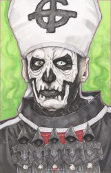 The Band Ghost Papa Emeritus 1 by ChrisOzFulton