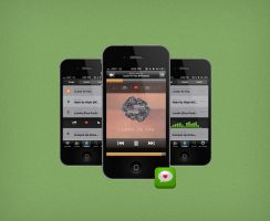 Hypem App For iPhone Mockup by FBED