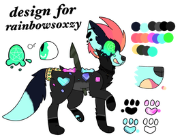 Design trade for rainbowsoxzy by Cahotic-eris
