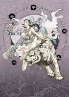 Divine Creature 3- White Tiger by daxiong