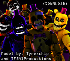 J is for Junk - Fredbear 3D Model Release (SFM) by TF541Productions