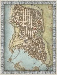 Lords of Waterdeep Boardgame Map by MikeSchley