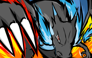 Mega Charizard X | Dragon Claw by ishmam