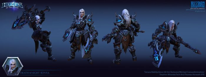 Sonya Death Knight HelmOff by FirstKeeper