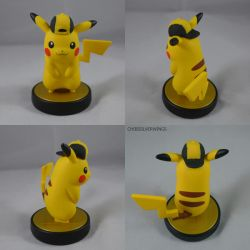 Pikachu Gold Hat Amiibo by ChibiSilverWings
