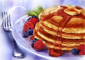 Pancakes by RaeVeone