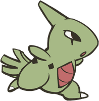 246. Larvitar by HappyCrumble