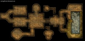 Clean crypt tomb dungeon map for DnD / Roll20 by SavingThrower