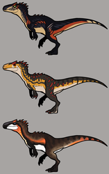 [CLOSED] Allosaurus adoptables by GoldenNove