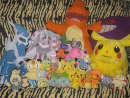 Pokemon Plushies Collection by twilightmoon86