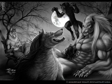 The First Full Moon for a Strange, Small Pack Gray by Guardian-Beast