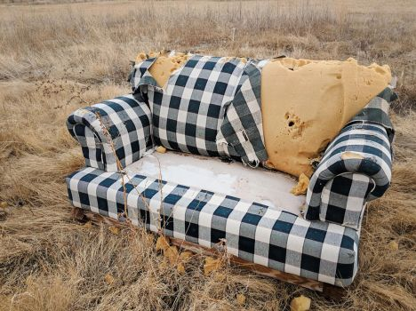 abandoned couch 5 by yellowicous-stock