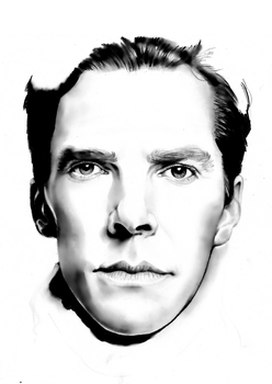 Benedict Cumberbatch Portrait, (Kinda Failed) by kyuubi-overrated