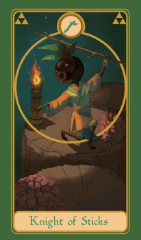Legend of Tarot - Knight of Sticks by TheMightyPegasus