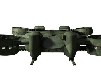 C-21 Dragon Dropship - WIP 7 by MandesDesign