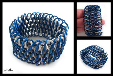 Stretchy Dragonscale Cuff by coldfirecustoms